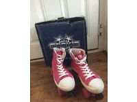 Rookie Roller Boots, Pink, Size 5, Excellent condition comes with box.