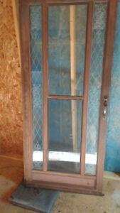 Very Sturdy Storm Door with Etched Windows