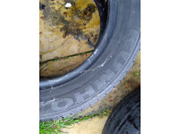 Two 15 inch car tyres