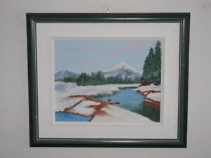 Toile (peinture) à l'huile, paysagiste d'artiste régionale