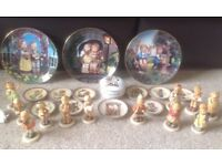 Hummel-Goebel-Figurines and plates