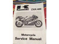 KAWASAKI ZXR 400 SERVICE MANUAL