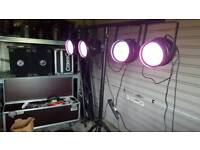 Par 64 LED lighting and stand