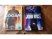 Logan and john wick 2 dvd