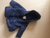 6-9 Month Jasper Conran Navy Waterproof Girls Jacket