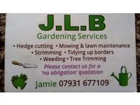 Gardener looking for work.