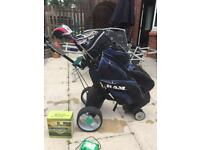 Electric golf trolly,bag and a full set of clubs