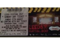 Leeds festival day ticket. Sunday