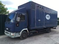 IVECO 75E15 BOX TRUCK IDEAL TO LOAD FOR EXPORT OR TURN INTO HORSE BOX MOT DRIVES 100%