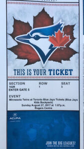 Toronto bluejays tickets