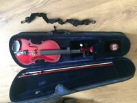 Brand new small starter violin plus case bow and grease