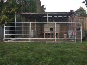 16 foot galvanized gate.