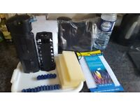 Fish tank pump fluval 4 plus underwater filter with replacement filters