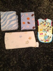 Boys Baby Blankets and Bibs