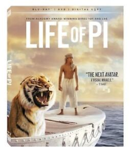 Life of Pi-Blu-Ray,DVD,Digital Copy combo-Like new + bonus
