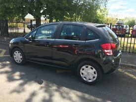 Citreon C3 for sale, £2,500, immaculate condition, black, 2010, 50,000 miles, FSH