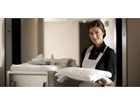 HOUSEKEEPING room attendant, hotel cleaning job vaccancy