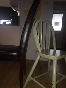 Child's dining room height wooden chair