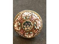 Italian Micro mosaic brooch - Eap - Rare!