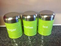 Tea coffee set of three green set