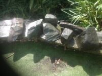 Slate pieces Pond or ornamental garden feature some huge pieces