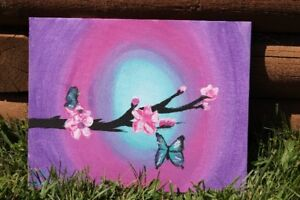 Butterfly painting by Mackenzie Seely