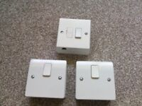 3 x Double pole switches