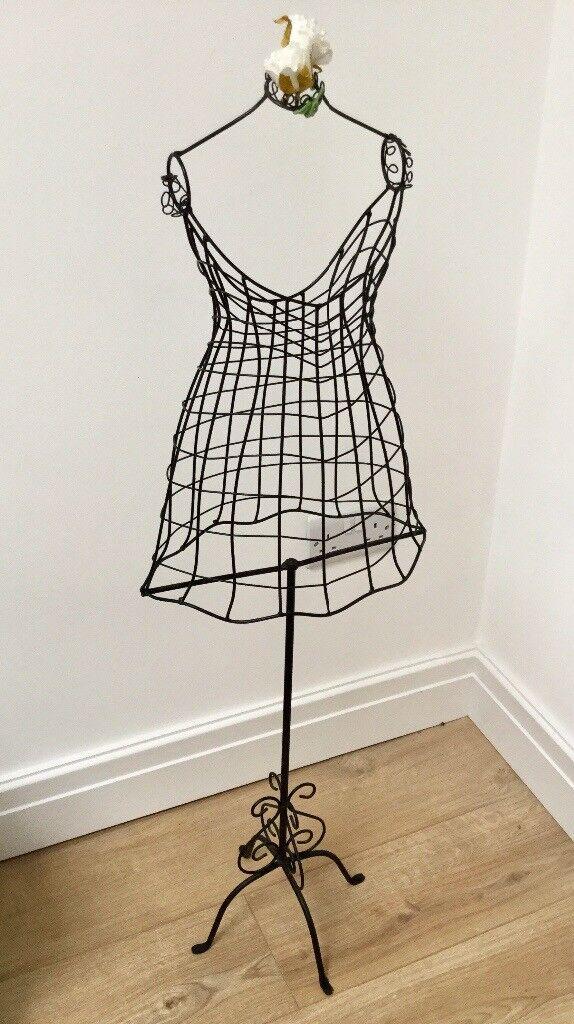 vintage style wire frame wedding mannequin childs dress girls retail display dressmaker - Dress Frame