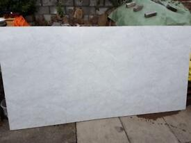 White marble effect wet wall 3 sheets, 2 half sheets