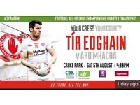 Tyrone vs Armagh tickets. Face value