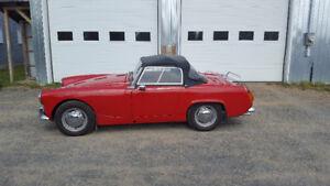 Austin Heayley Sprite 1963 rouge décapotable