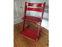 Red Tripp Trapp high chair from Stokke