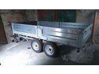 twin axle trailer,,,braked,,,2600kg gross weight,,,immaculate,,,10 ft x 5.6 feet...