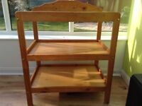 Changing table, pine wood
