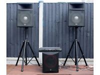 Pa System, Speakers, Amp, Bass Bin with stands & cables £250