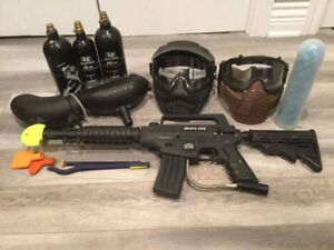 Paintball Bravo One + accessoires