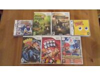5 Nintendo Wii & 2 Nintendo DS Games - Mario, Sonic, Crash Bandicoot, etc