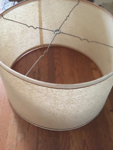 VINTAGE LARGE LAMPSHADE, off-white
