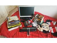 Random Lot of PC Monitor Books Wrist Watch Paper Cutter