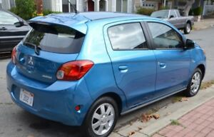 2015 Mitsubishi Mirage Blue Hatchback