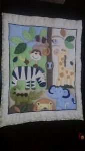 Animal jungle / zoo crib set