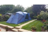 Camping Glamping family tent with all equipment and accessories