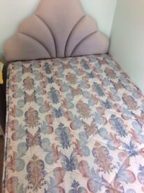 Single Divan Bed and Headboad
