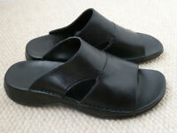 Clarks Black leather sandals size 6.5