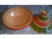 morrocan glazed clay pot