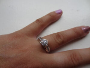 14K White Gold 0.55CT Canadian Diamond