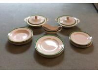Queens Green Art Deco Soliam Ware