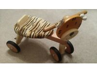 Gorgeous Wooden Tiger Trike Toy