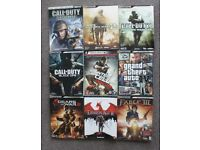 Lot of 9 official strategy guides - Call of duty - GTA - Fable - Dragon Age ....