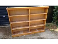 Large pitched pine book case
